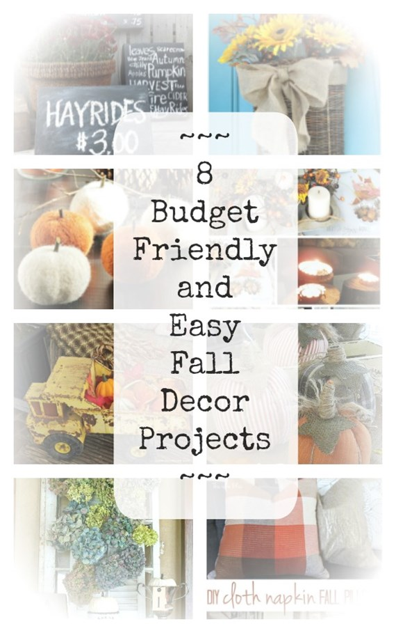 Easy and budget friendly round-up of fall projects and decor.