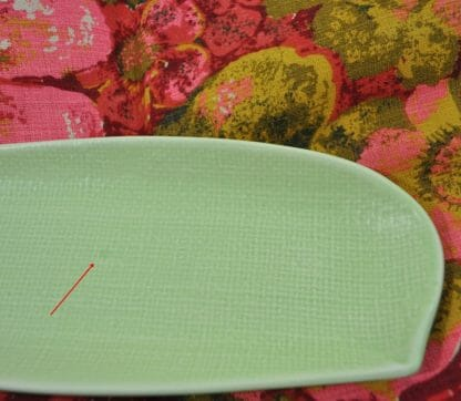 Discoloration on green dish