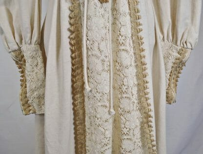 Apron of vintage Gunne Sax maxi dress