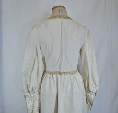 Back of vintage Gunne Sax maxi dress