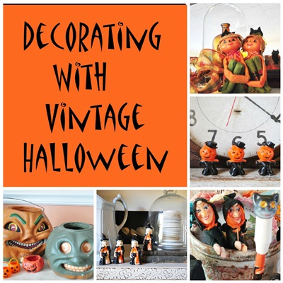 Pin this - Using vintage Halloween decorations