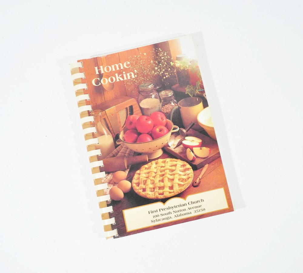 Sylacauga Alabama First Presbyterian Church Charity Cookbook Home Cookin