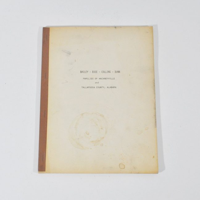 Bailey Bice Collins & Dunn Genealogy Book