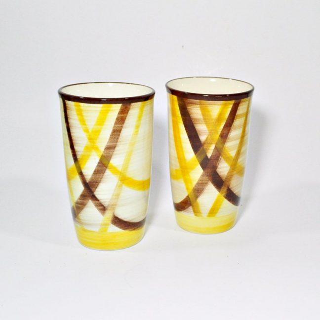 Two Vernonware Organdie Glasses