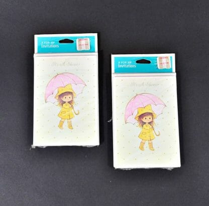 Vintage shower invitations. Can be used for either wedding or baby shower. 2 Unopened packs of 8 each from the 1980's