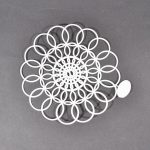 "6"" Tupperware Doily Plastic Doily Tab Still Attached 2 Available"