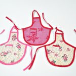 Three Vintage Flour Sack Bottle Aprons