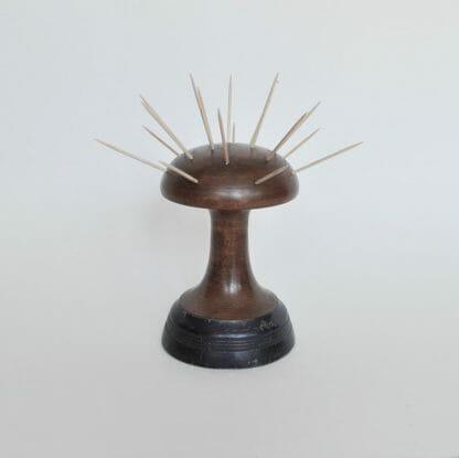 Wood MCM hor dourves holder or toothpick holder. Mushroom or atomic shape.