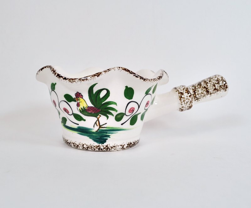 Vintage Gravy Boat – Rooster and Flowers