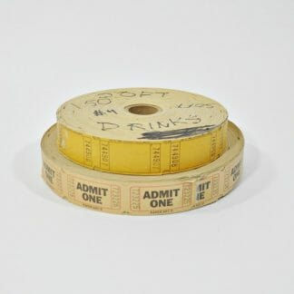 Vintage ticket rolls to use in scrapbooking, as decor in a game room or theater room or in your industrial decor room.