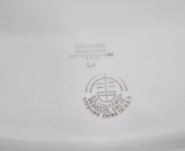 Sterling China mark L4, 1970's