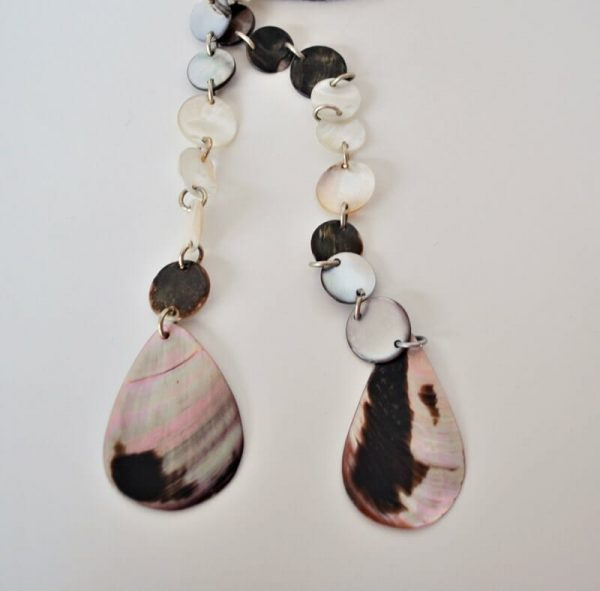 Vintage mother of pearl lariat necklace