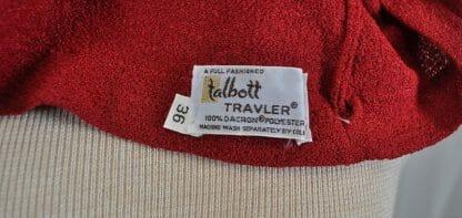1980's Talbott Travler clothing tag