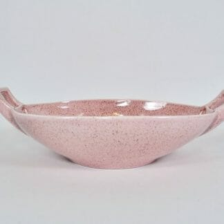 Vintage Red Wing Pottery Pink Fleck Zephyr Low Bowl by Charles Murphy M1493