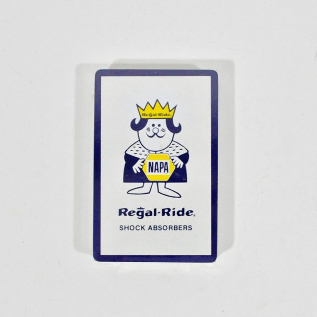 NAPA advertising - Regal Ride Shock Absorbers playing cards