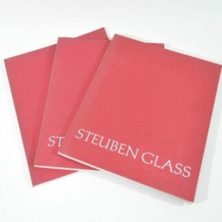 3 Steuben Glass catalogs from the 1970's
