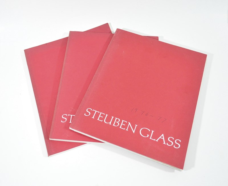 3 Vintage Steuben Glass Catalogs From the 1970's