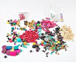 De-stash Colored Wood Beads Lot - 1 lb.+ Assorted Beads For Crafting