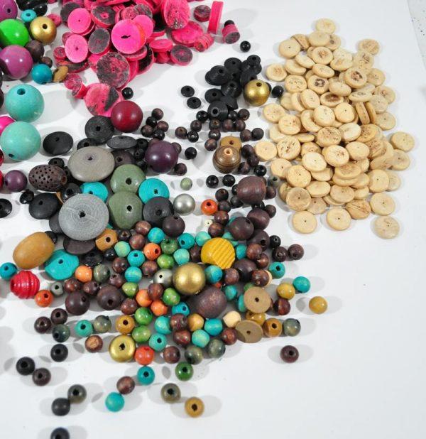 Destash lot of wood beads