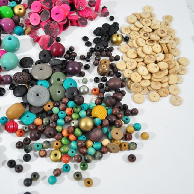 Destash lot of wood beads