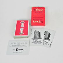 "Vintage, hard to find, Dunes playing cards. Complete deck with box, two jokers and ""B"" card. Red backs."