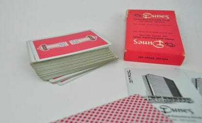 Vintage Dunes playing cards.
