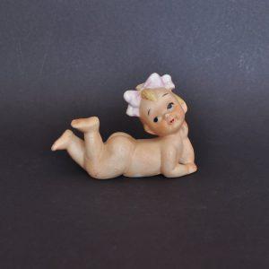Bisque baby girl figurine