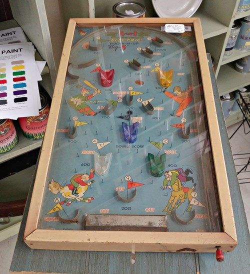 Vintage toy pinball machine