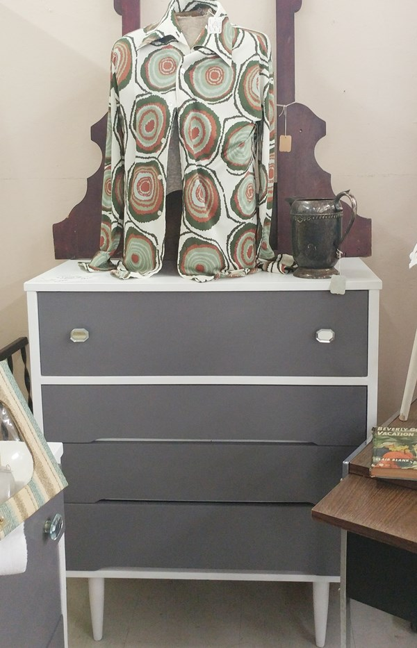 Painted Mid Century Chest of Drawers