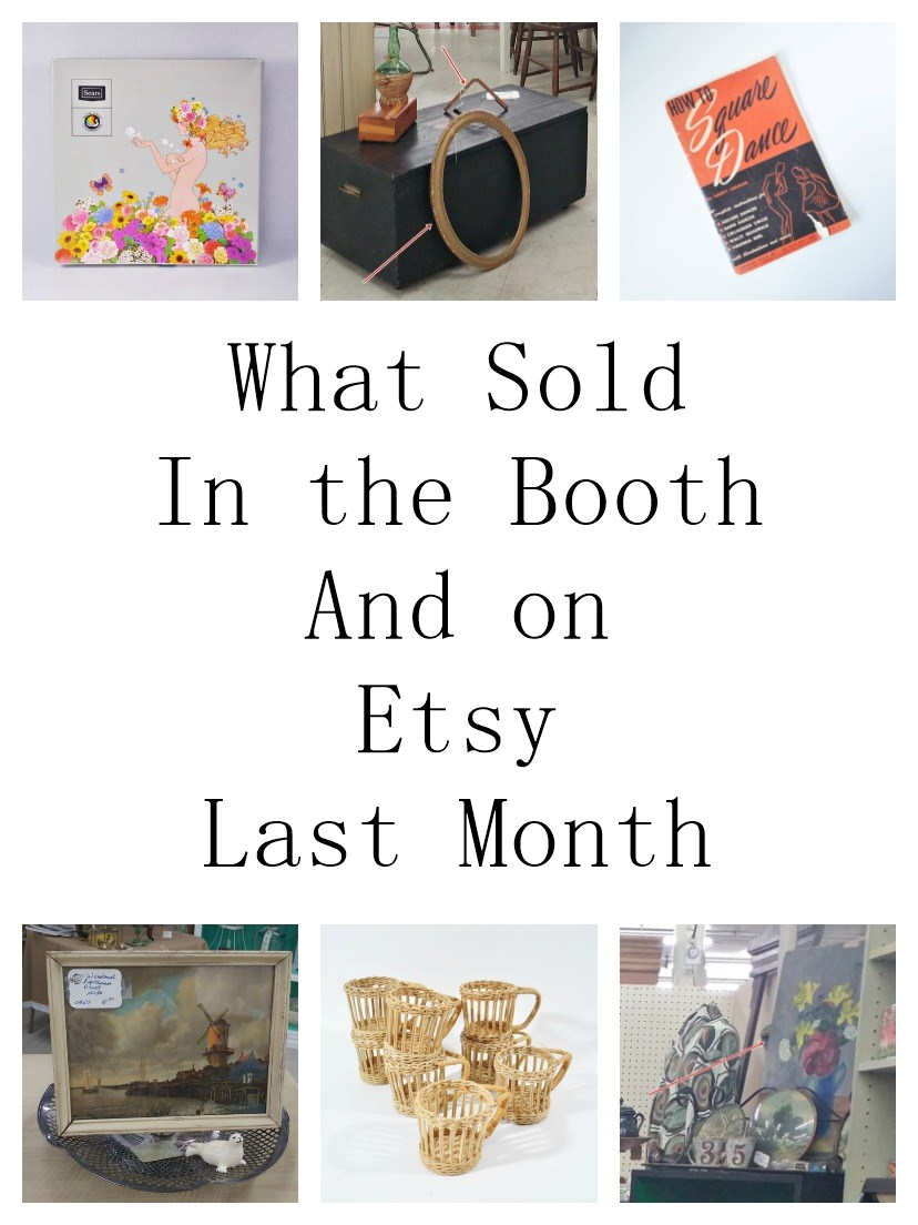 What Sold In April – Booth Sales and Etsy Sales