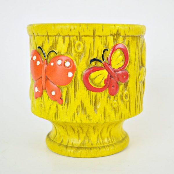 1960's Mod Butterfly Planter
