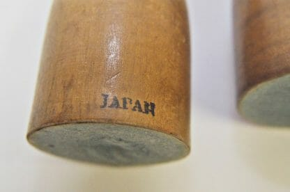 Japan mark on mid century dog and cat wood pencil holders