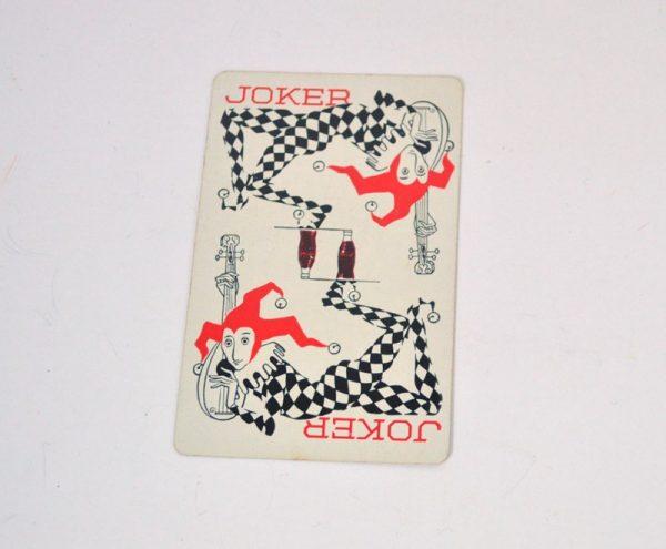 Vintage 1950's Coca Cola playing card joker
