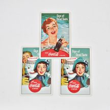 Vintage 1950's Collectible Coca Cola playing cards