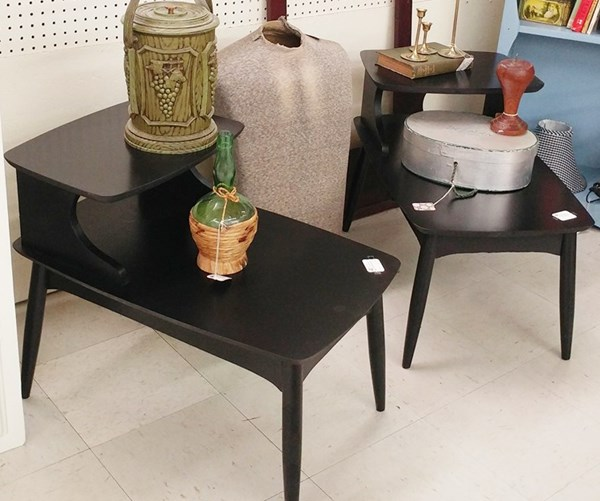 Painted Mid Century Endtables