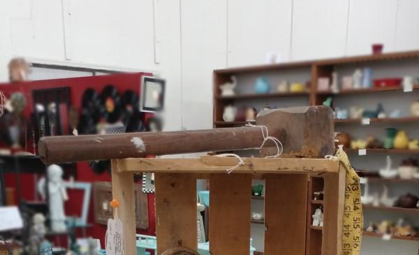 Old wood mallet