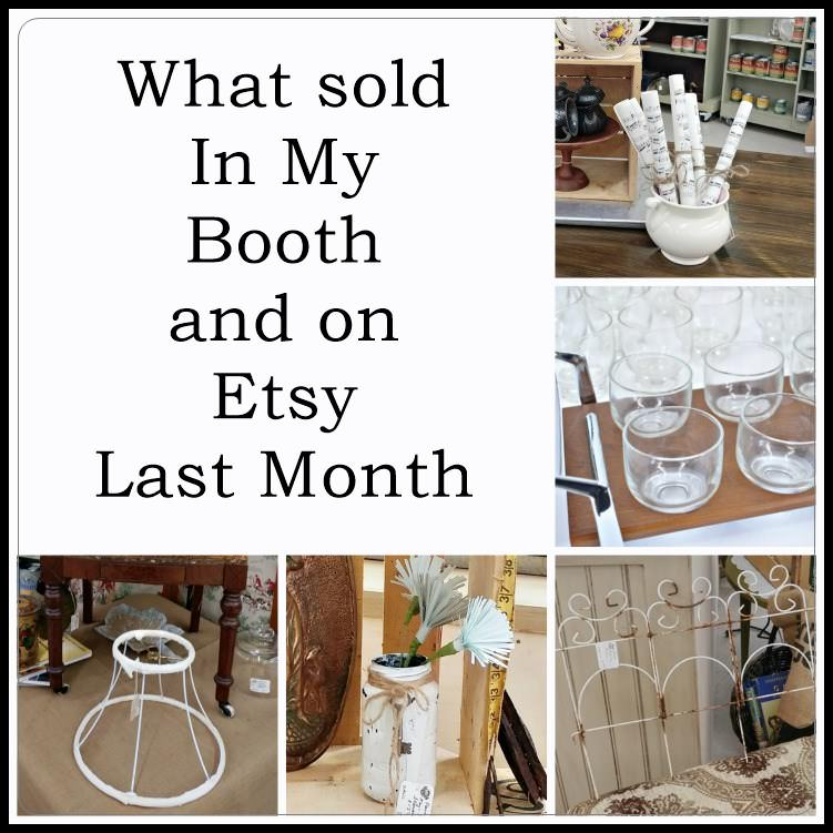Booth and Etsy sales for June 2017