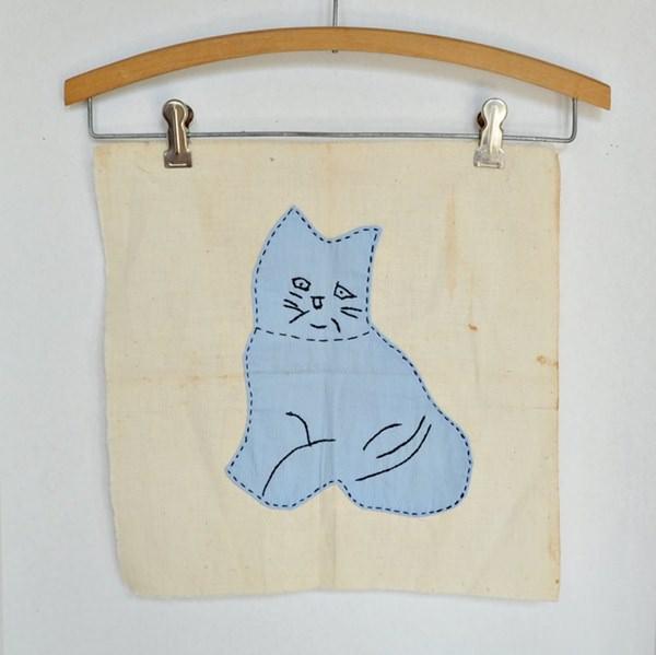 Kitten Applique Square