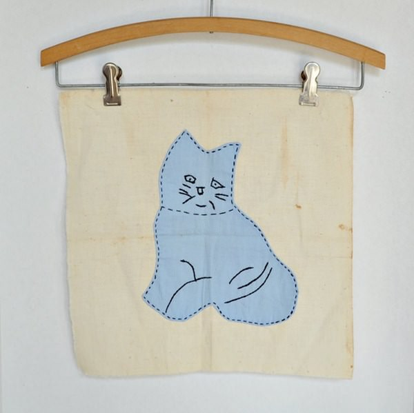Kitten Applique Square