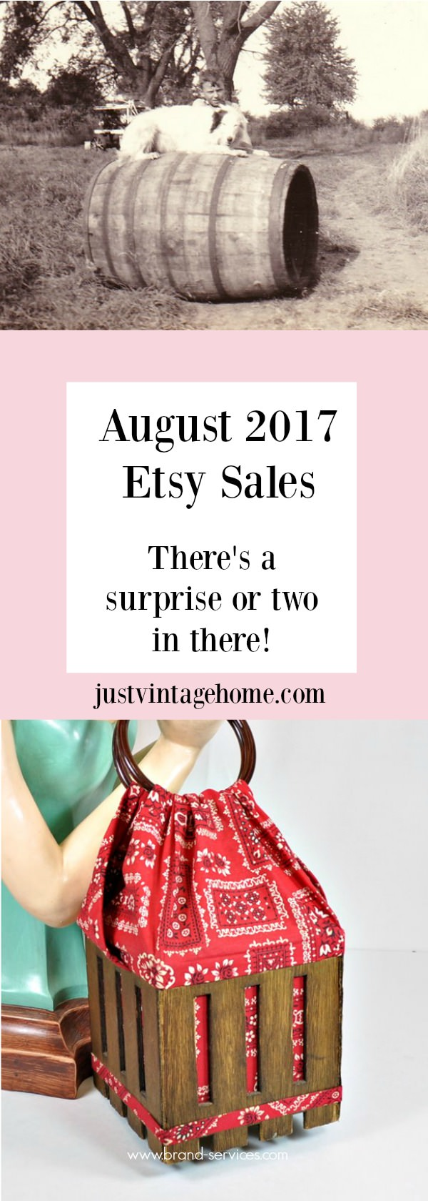 Etsy Sales Report for August 2017