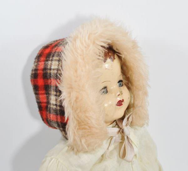 Vintage Child's Red Plaid Hat