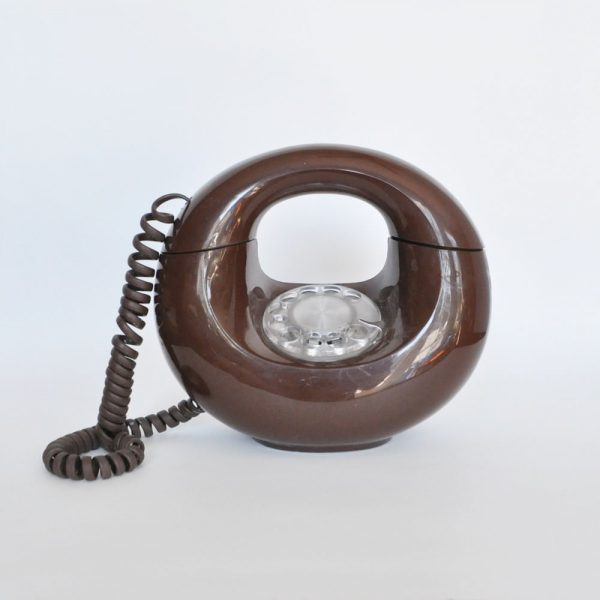 Vintage brown donut phone sold on Etsy