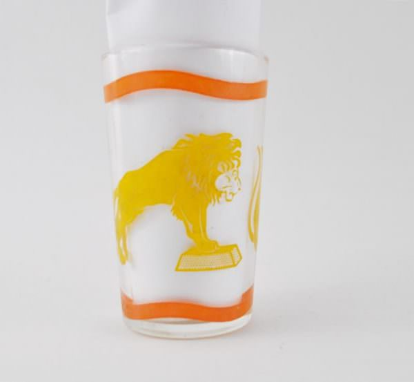 Vintage Lion Circus Jelly Glass