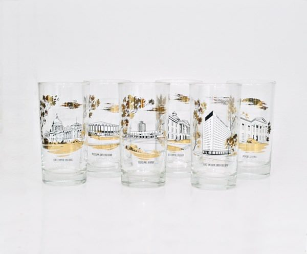 Jackson Mississippi souvenir glasses