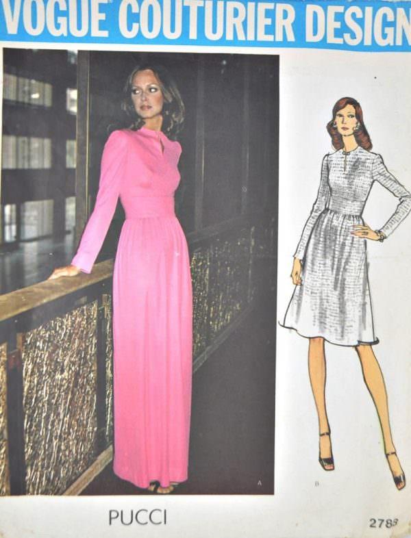 Vintage Vogue Couterier Pucci pattern