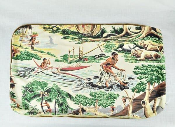 Polynesian Barkcloth Pillow Cover