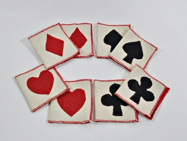Hand Made Fabric Applique Bridge Tallies