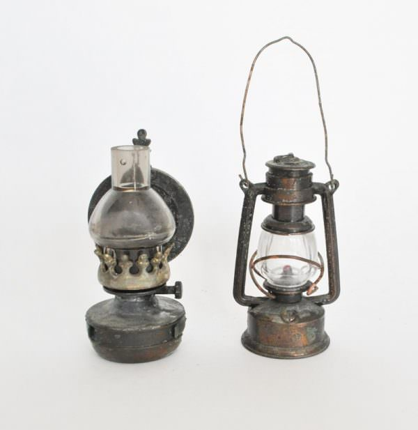 Miniature metal lantern pencil sharpeners