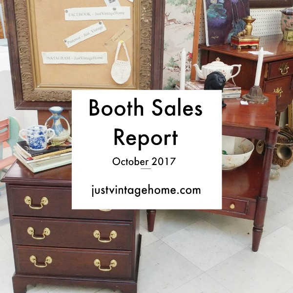 Vintage and antique booth sales report for October 2017
