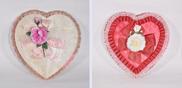Vintage Heart Shaped Candy Boxes